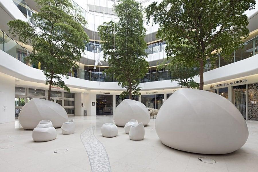 big planters in mall