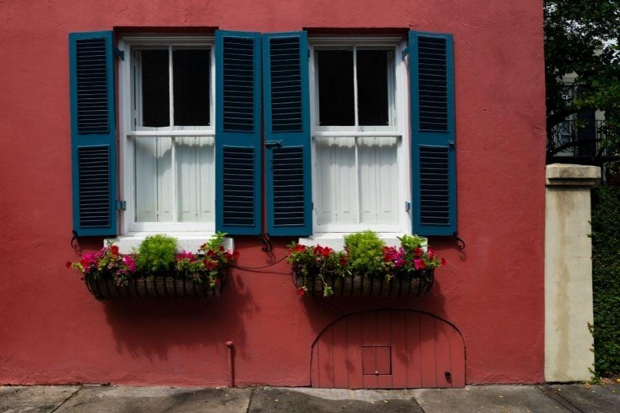 Flower pots by the window