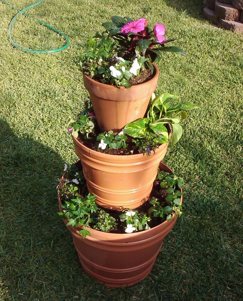 planters in tiers