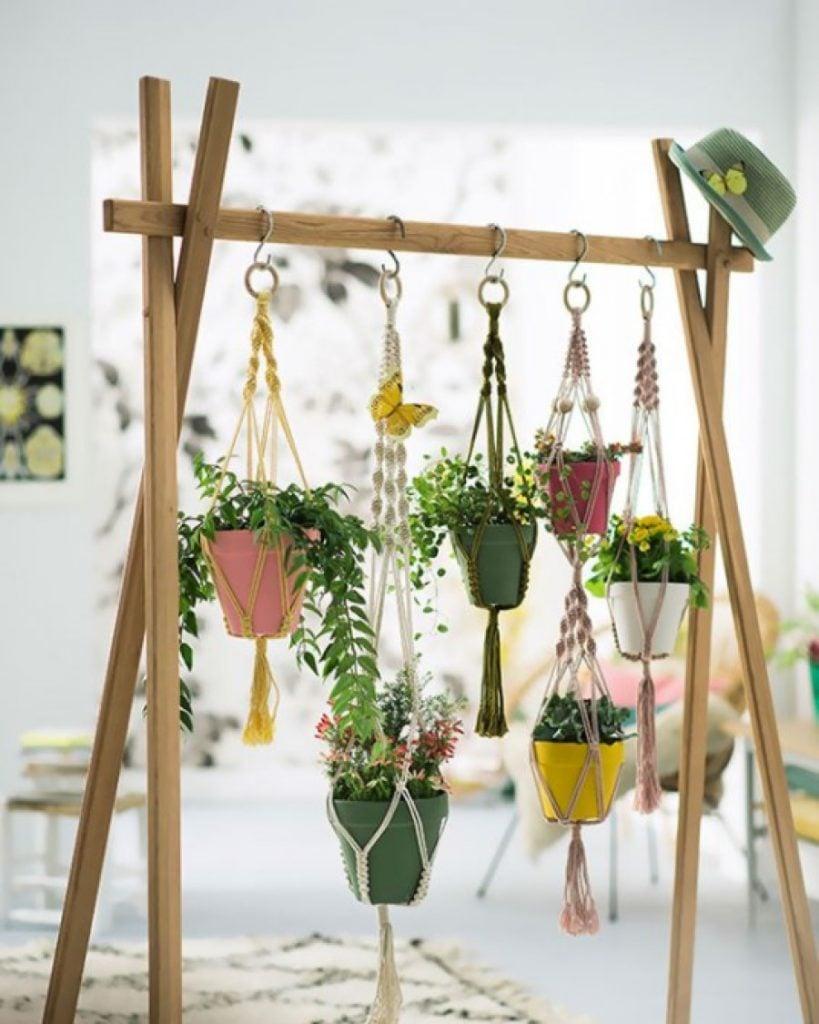 creative hanging plant room divider
